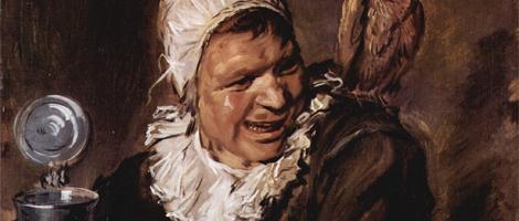 Fragment van 'Malle Babbe' van Frans Hals
